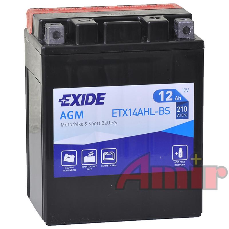 Akumulator Exide Bike ETX14AHL-BS - 12V 12Ah 210A
