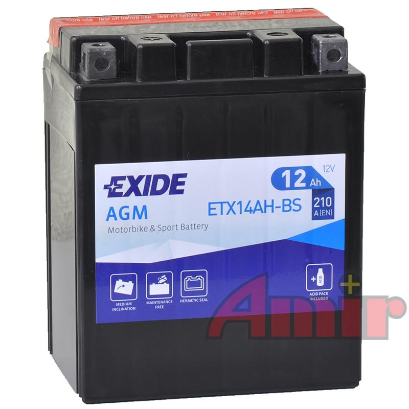 Akumulator Exide Bike ETX14AH-BS - 12V 12Ah 210A YTX14AH-BS