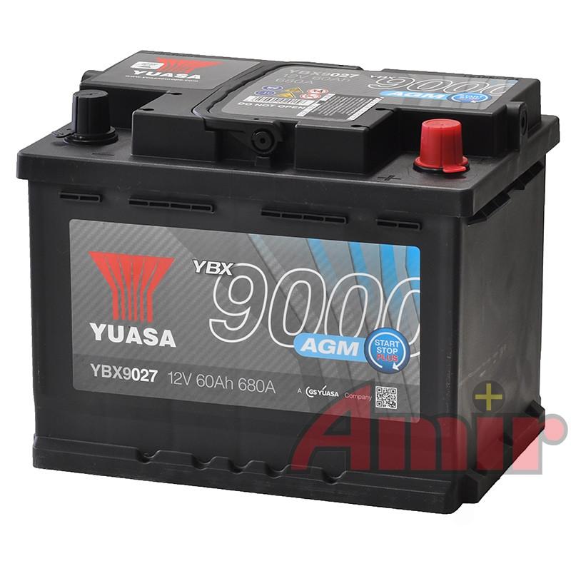 Akumulator Yuasa Start-Stop AGM - 12V 60Ah 680A YBX9027