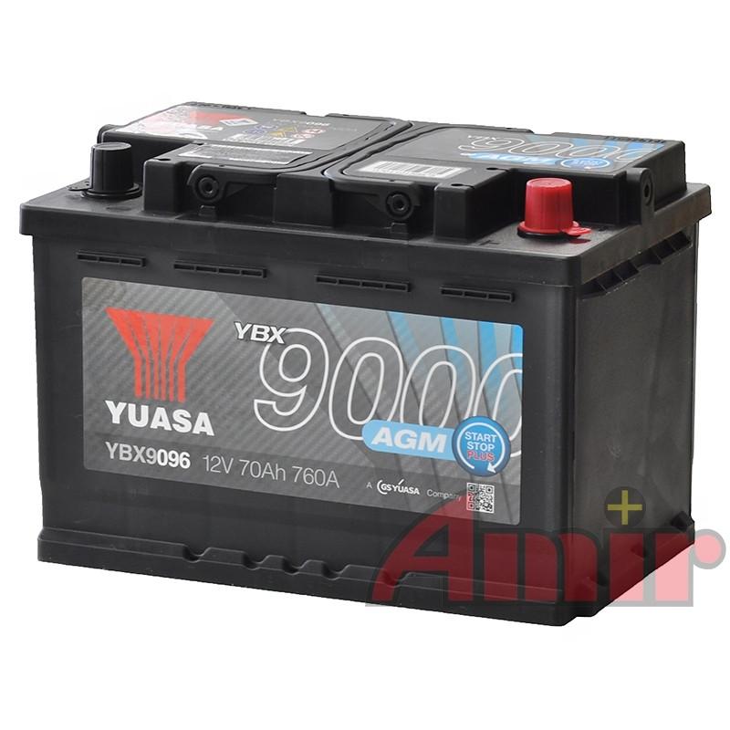 Akumulator Yuasa Start-Stop AGM - 12V 70Ah 760A YBX9096