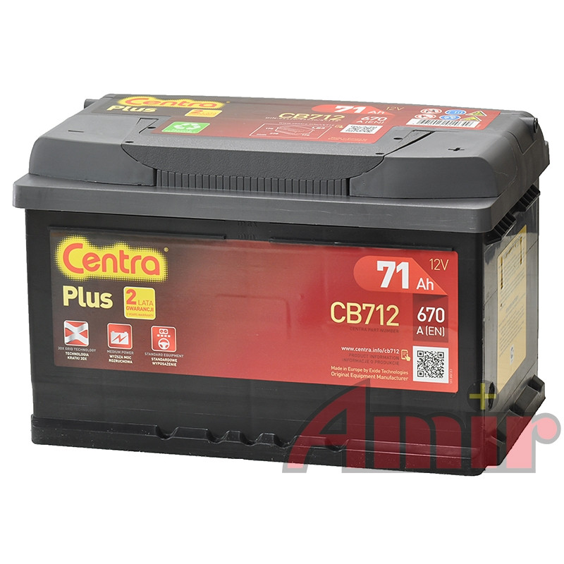Akumulator Centra Plus - 12V 71Ah 680A CB712