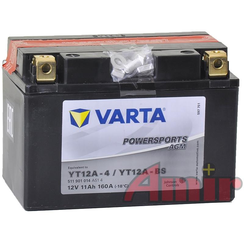 Akumulator Varta YT12A-BS - 12V 11Ah 160A Powersports