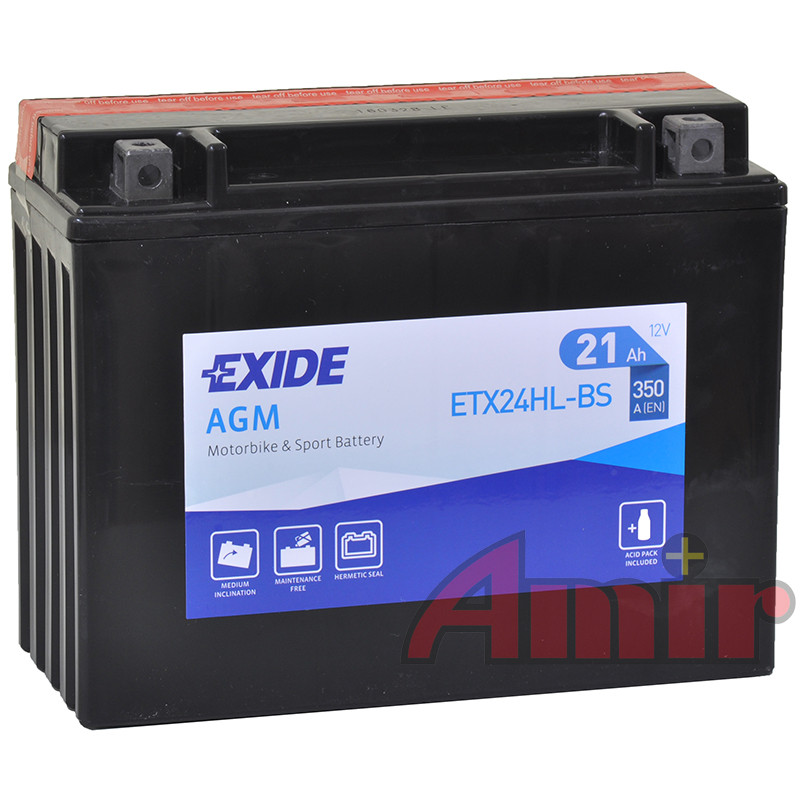 Akumulator Exide Bike ETX24HL-BS - 12V 21Ah 350A