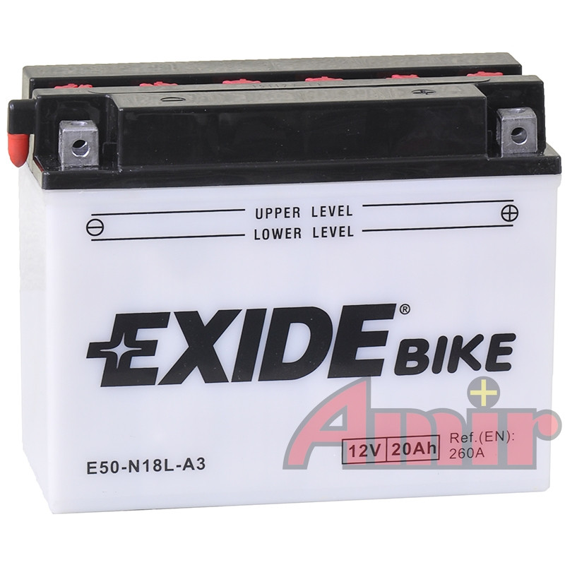 Akumulator Exide Bike E50-N18L-A3 - 12V 20Ah 260A