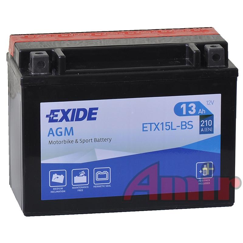 Akumulator Exide Bike ETX15L-BS - 12V 13Ah 210A YTX15L-BS