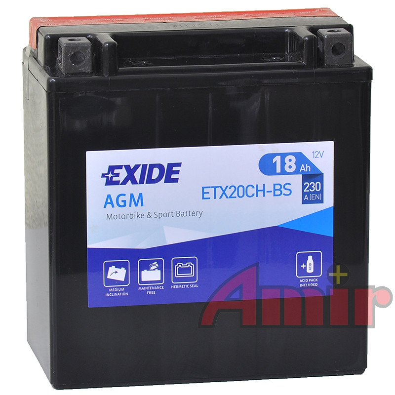 Akumulator Exide Bike ETX20CH-BS - 12V 18Ah 230A