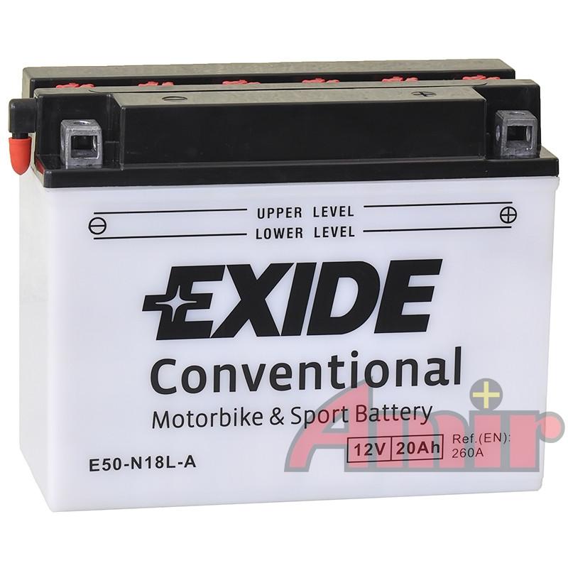 Akumulator Exide Bike E50-N18L-A - 12V 20Ah 260A