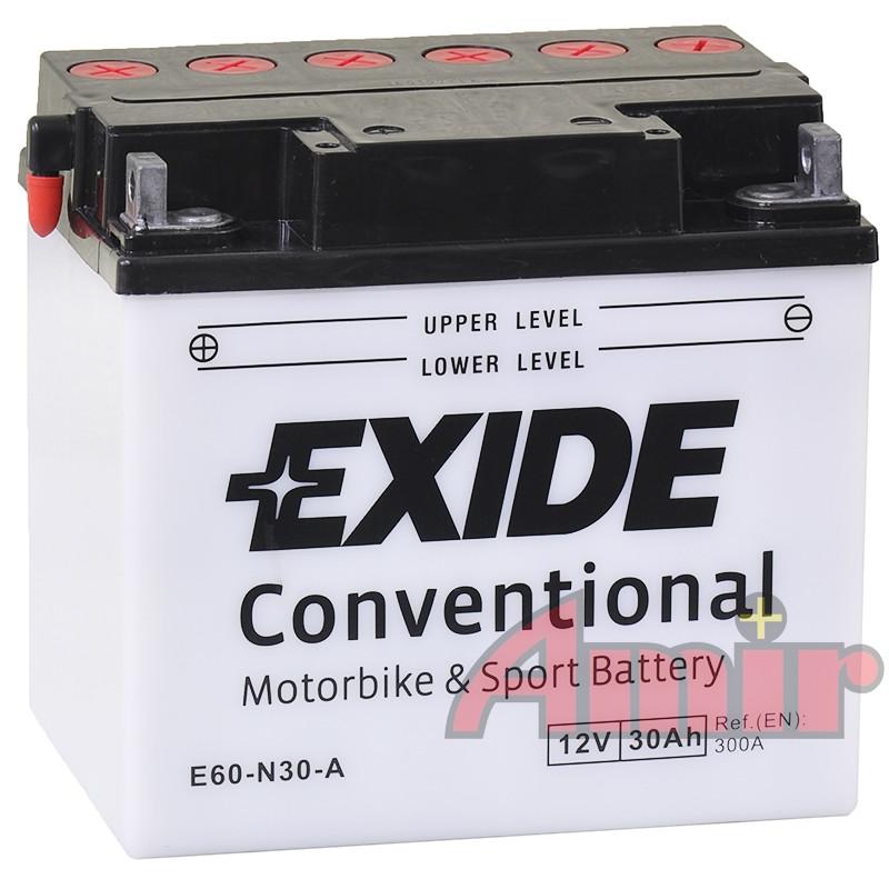Akumulator Exide Bike E60-N30-A - 12V 30Ah 300A