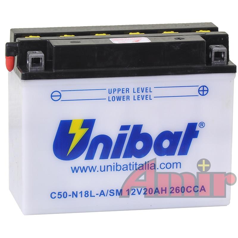 Akumulator Unibat C50-N18L-A - 12V 20Ah 260A