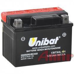 Akumulator Unibat CBTX4L-BS - 12V 3Ah 50A YTX4L-BS