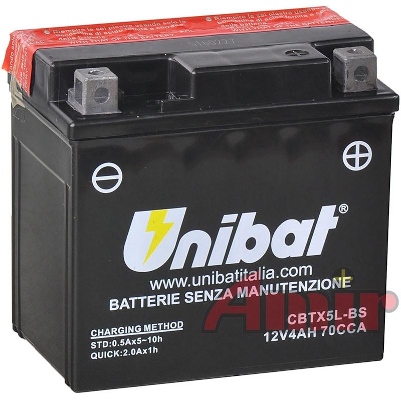 Akumulator Unibat CBTX5L-BS - 12V 4Ah 70A