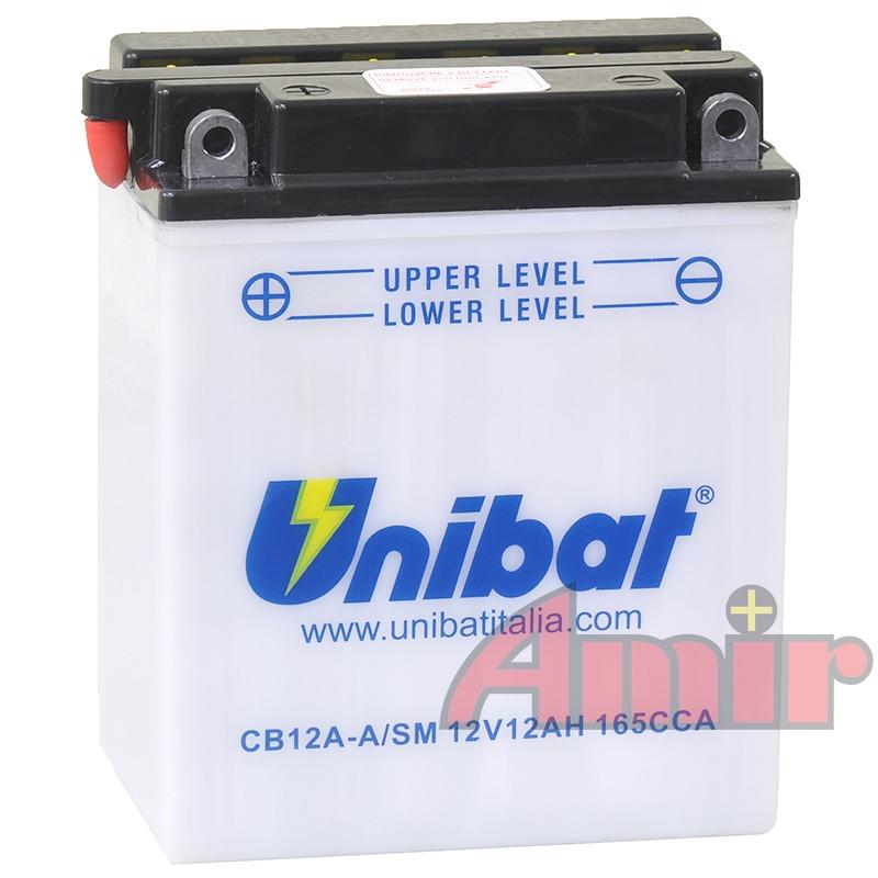 Akumulator Unibat CB12A-A - 12V 12Ah 165A