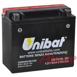 Akumulator Unibat CBTX20L-BS - 12V 18Ah 270A