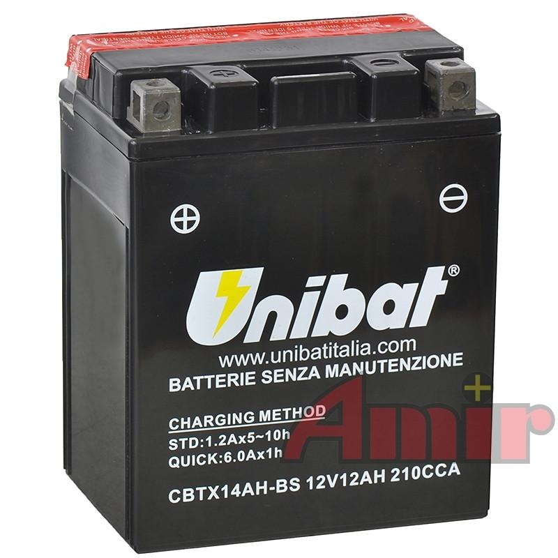 Akumulator Unibat CBTX14AH-BS - 12V 12Ah 210A