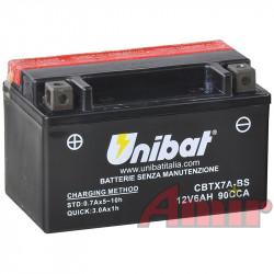 Akumulator Unibat CBTX7A-BS - 12V 6Ah 90A