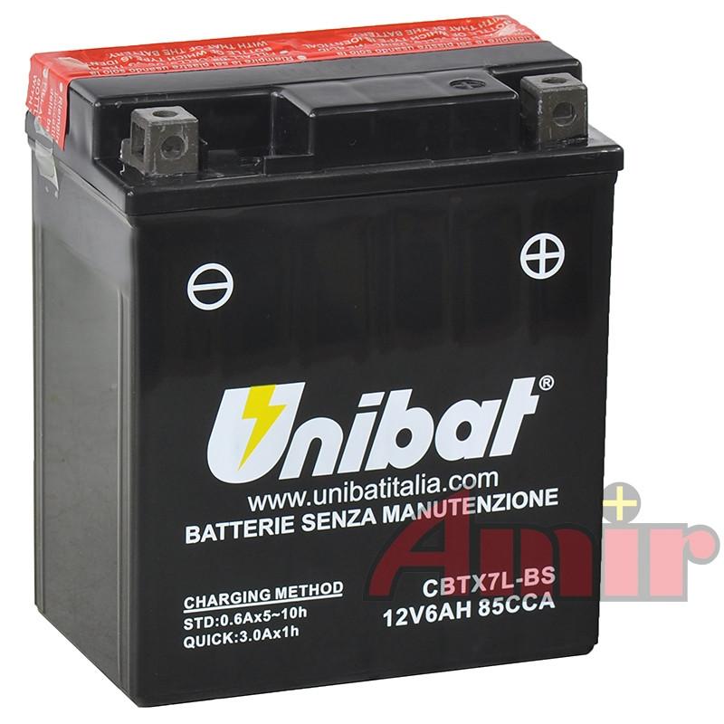 Akumulator Unibat CBTX7L-BS - 12V 6Ah 85A