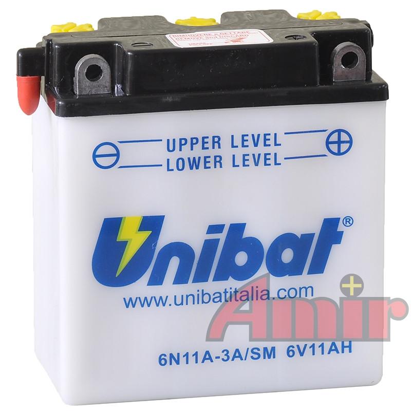 Akumulator Unibat 6N11A-3A - 6V 11Ah