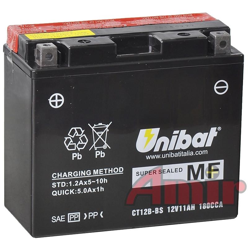 Akumulator Unibat CT12B-BS - 12V 11Ah 180A