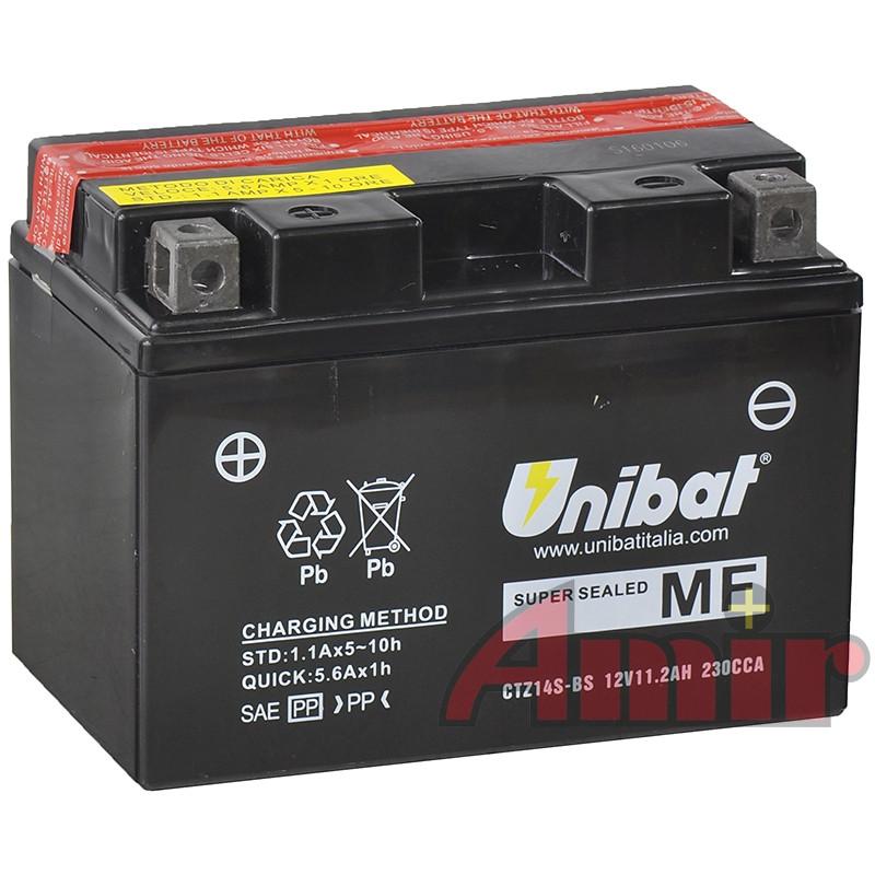 Akumulator Unibat CTZ14S-BS - 12V 11,2Ah 230A