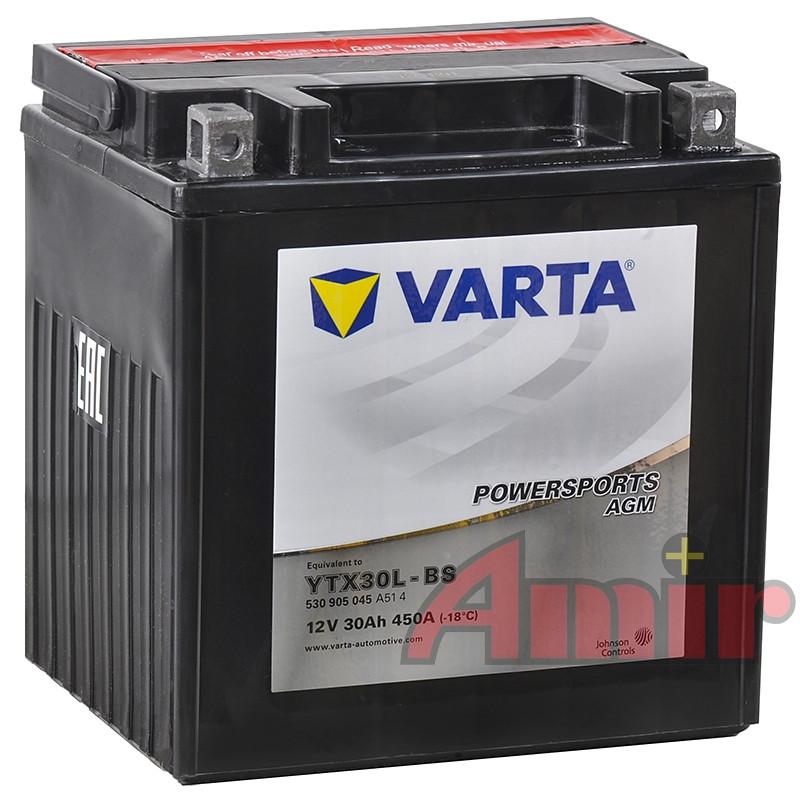 Akumulator Varta YTX30L-BS YIX30L-BS - 12V 30Ah 450A Powersports