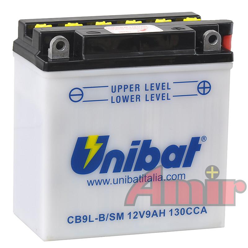 Akumulator Unibat CB9L-B - 12V 9Ah 130A