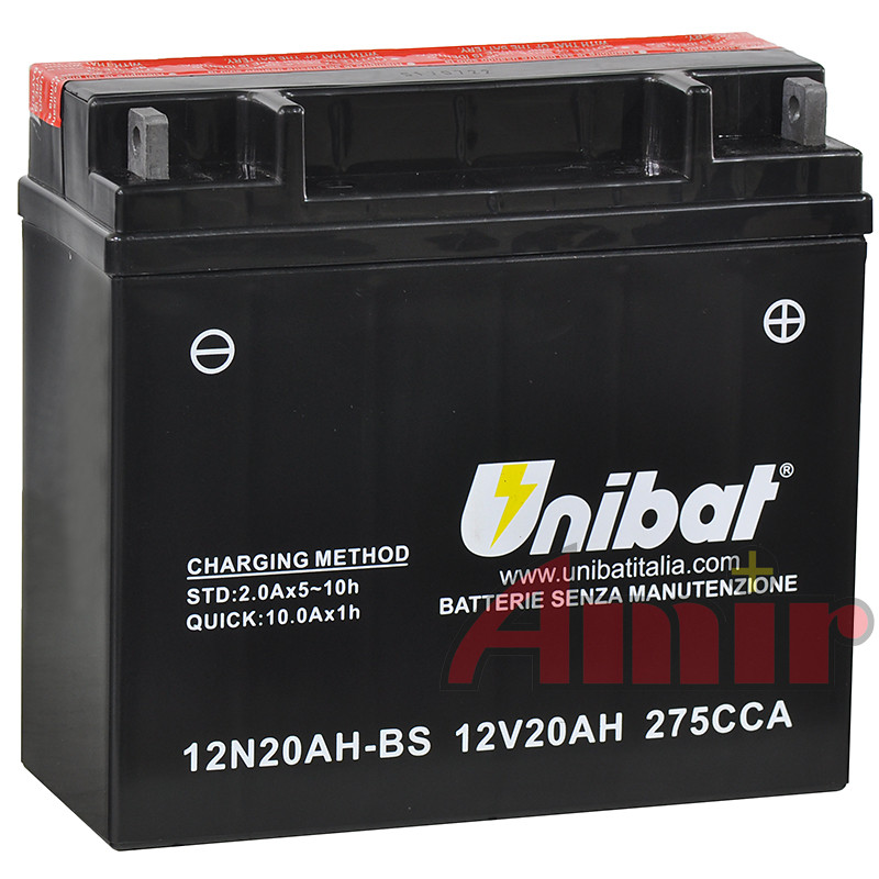 Akumulator Unibat 12N20AH-BS 51913 - 12V 20Ah 275A
