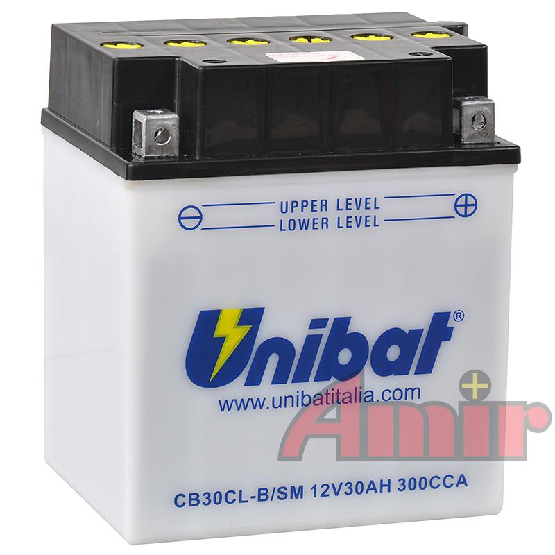 Akumulator Unibat CB30CL-B - 12V 30Ah 300A