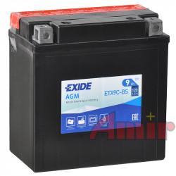 Akumulator Exide Bike ETX9C-BS - 12V 9Ah 120A