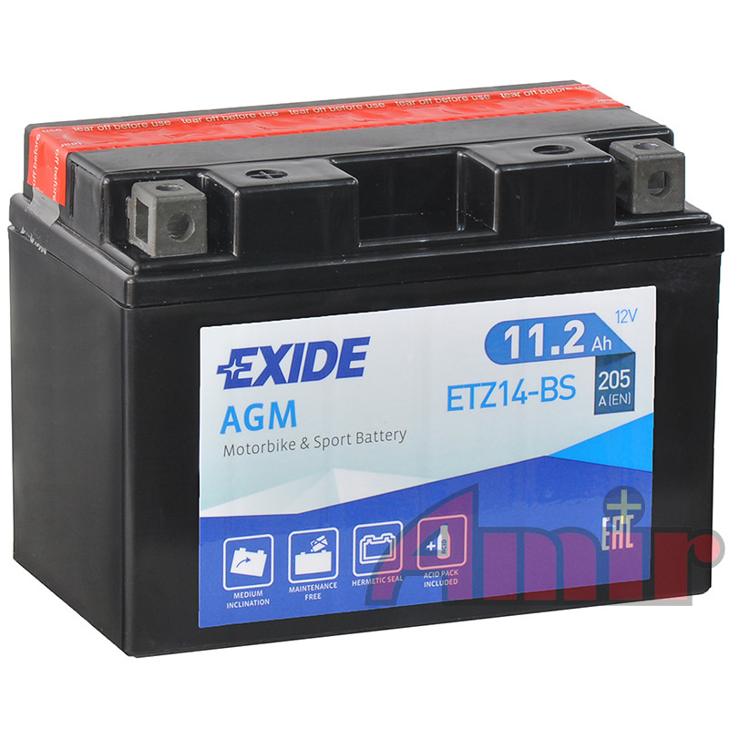 Akumulator Exide Bike ETZ14-BS - 12V 11,2Ah 205A