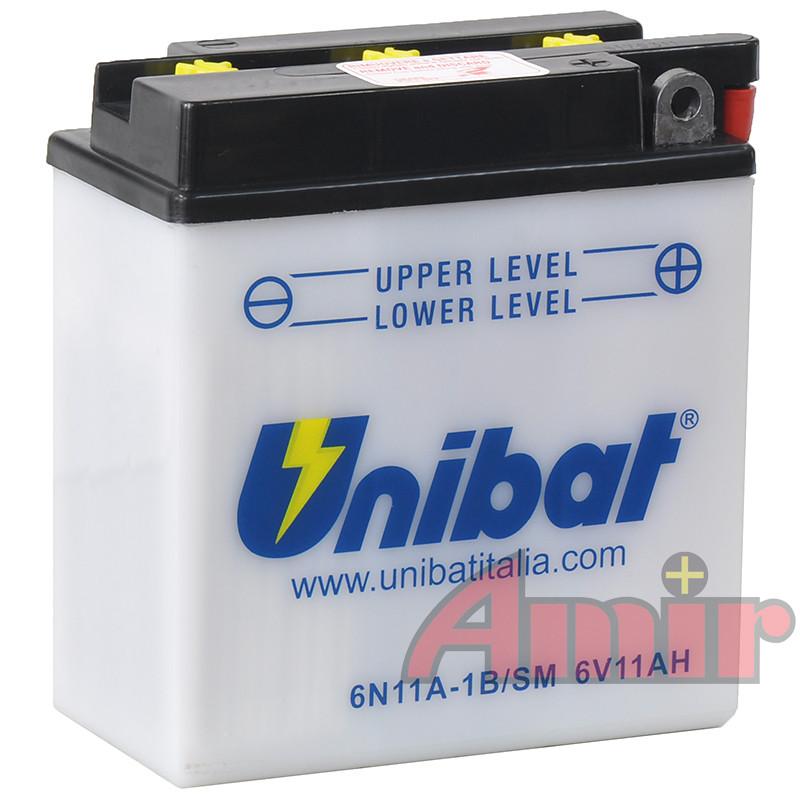 Akumulator Unibat 6N11A-1B - 6V 11Ah
