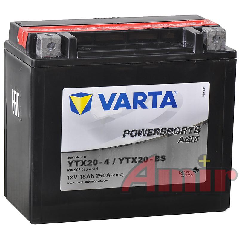 Akumulator Varta YTX20-BS - 12V 18Ah 250A Powersports
