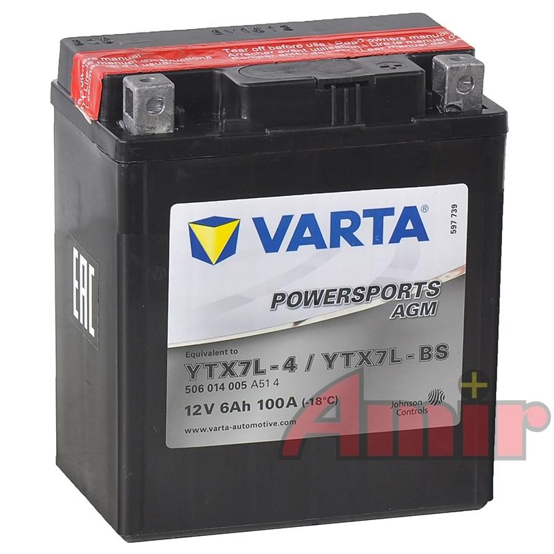 Akumulator Varta YTX7L FA - 12V 6Ah 100A Powersports