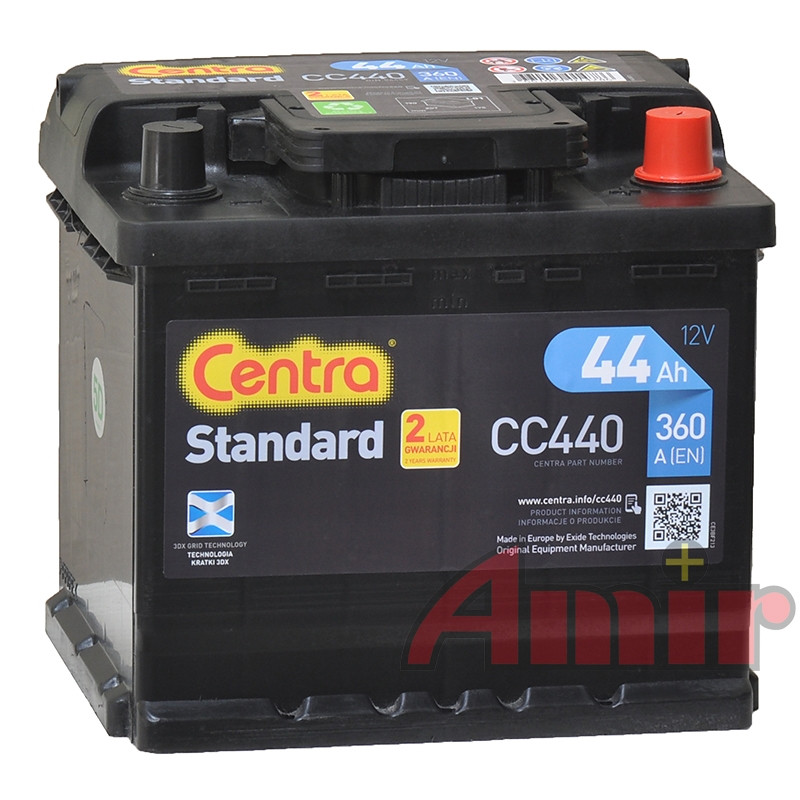 Akumulator Centra Standard - 12V 44Ah 360A CC440