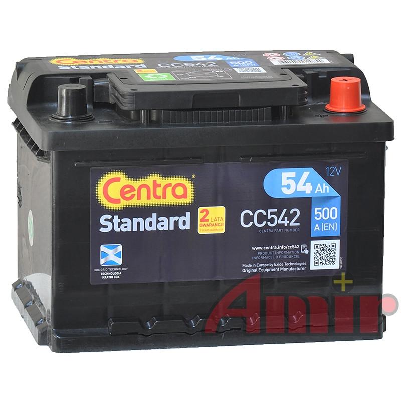 Akumulator Centra Standard - 12V 54Ah 500A CC542