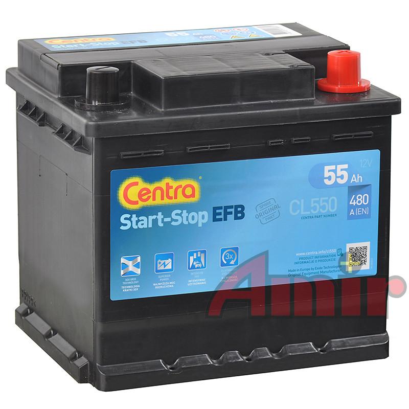Akumulator Centra Start-Stop EFB - 12V 55Ah 480A CL550