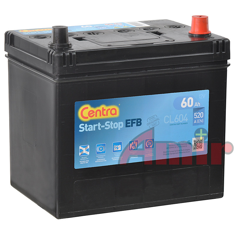 Akumulator Centra Start-Stop EFB - 12V 60Ah 520A CL604
