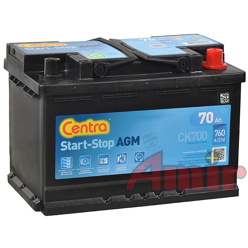 Akumulator Centra Start-Stop AGM - 12V 70Ah 760A CK700
