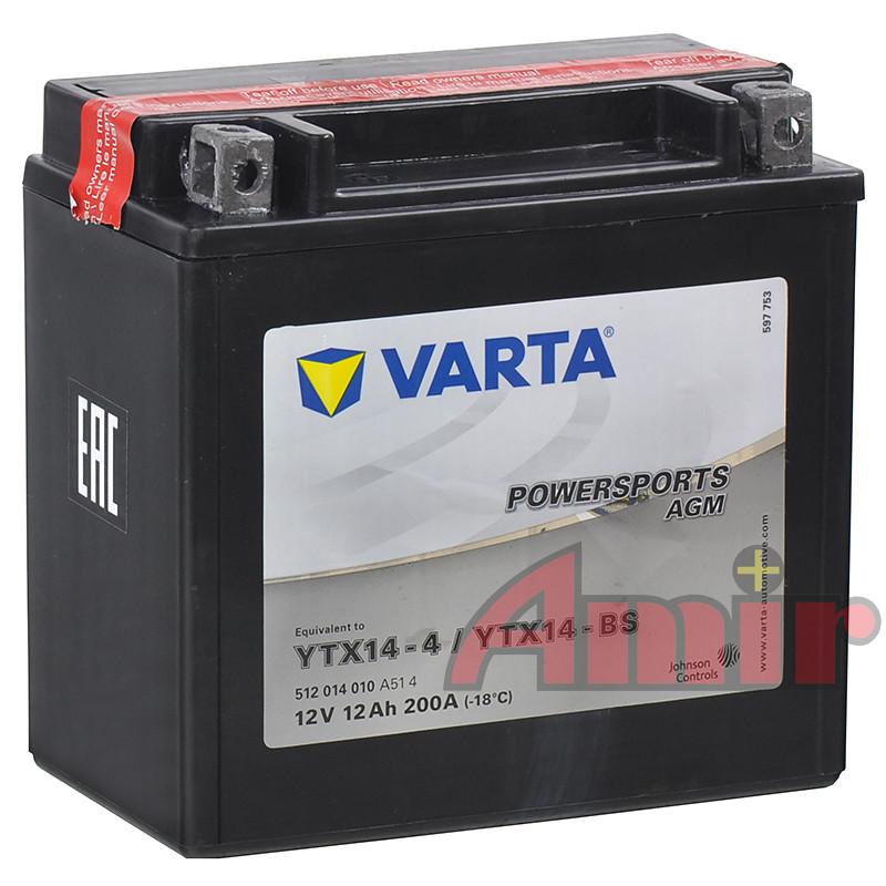 Akumulator Varta YTX14-BS - 12V 12Ah 200A Powersports