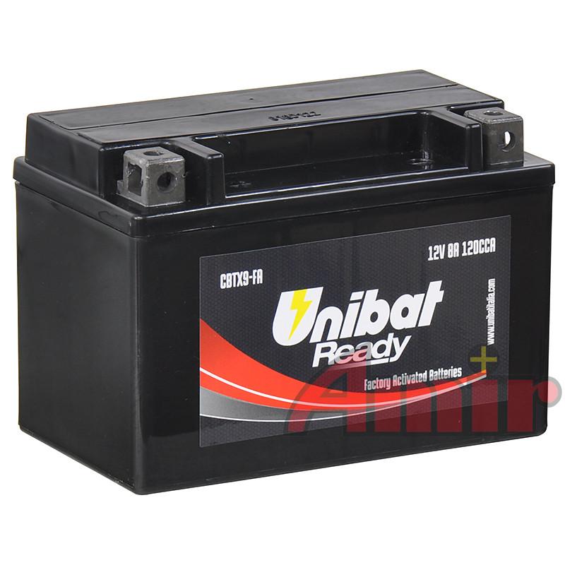 Akumulator Unibat CBTX9-FA - 12V 8Ah 120A YTX9-FA