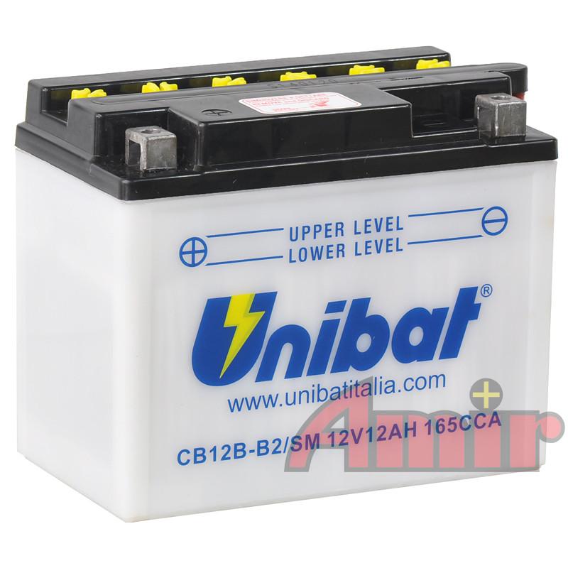 Akumulator Unibat CB12B-B2 - 12V 12Ah 165A