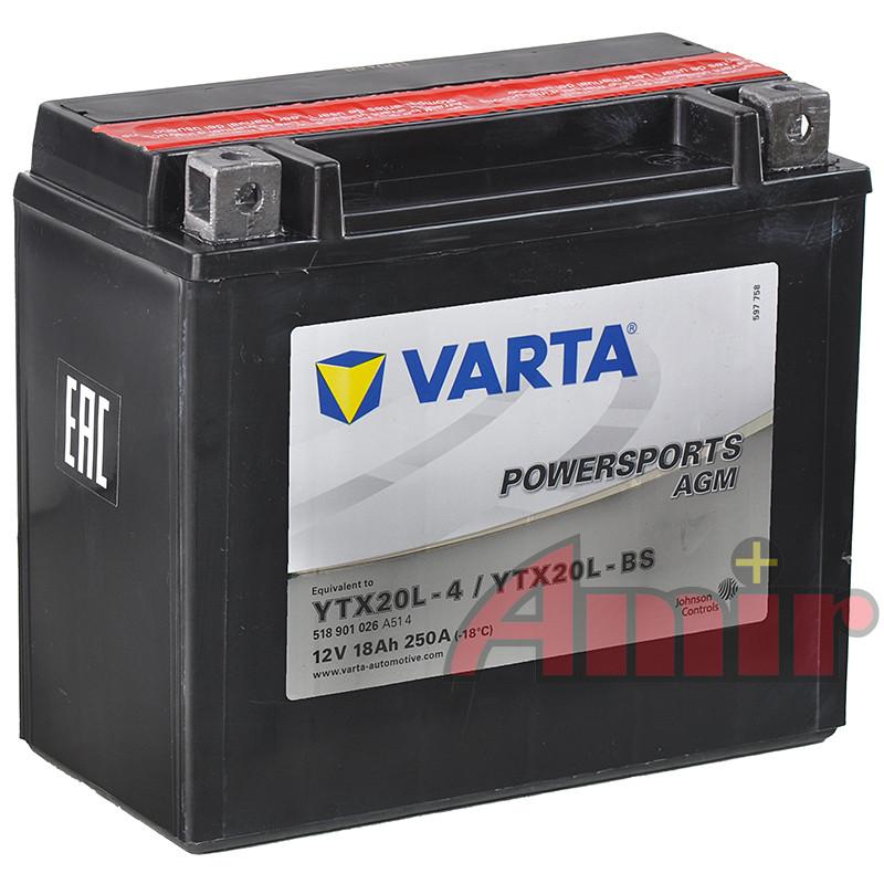 Akumulator Varta YTX20L-BS - 12V 18Ah 250A Powersports
