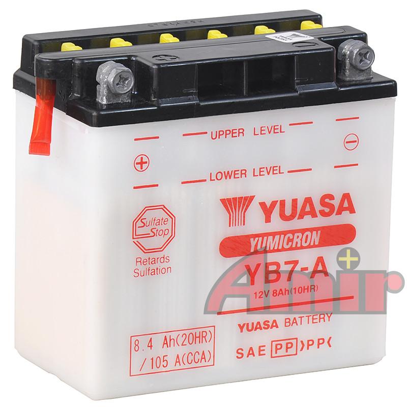 Akumulator Yuasa YB7-A - 12V 8Ah 105A