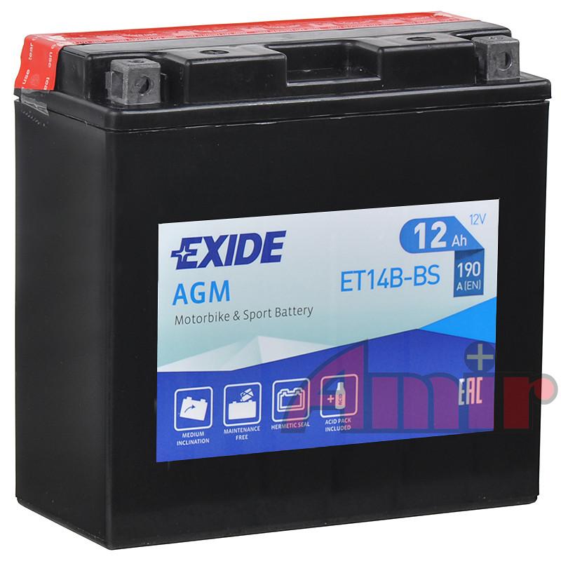 Akumulator Exide Bike ET14B-BS - 12V 12Ah 190A