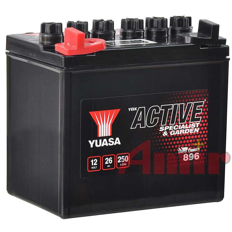 Akumulator Yuasa Garden 896 - 12V 26Ah 200A Lewy+