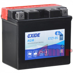 Akumulator Exide Bike ETZ7-BS - 12V 6Ah 100A