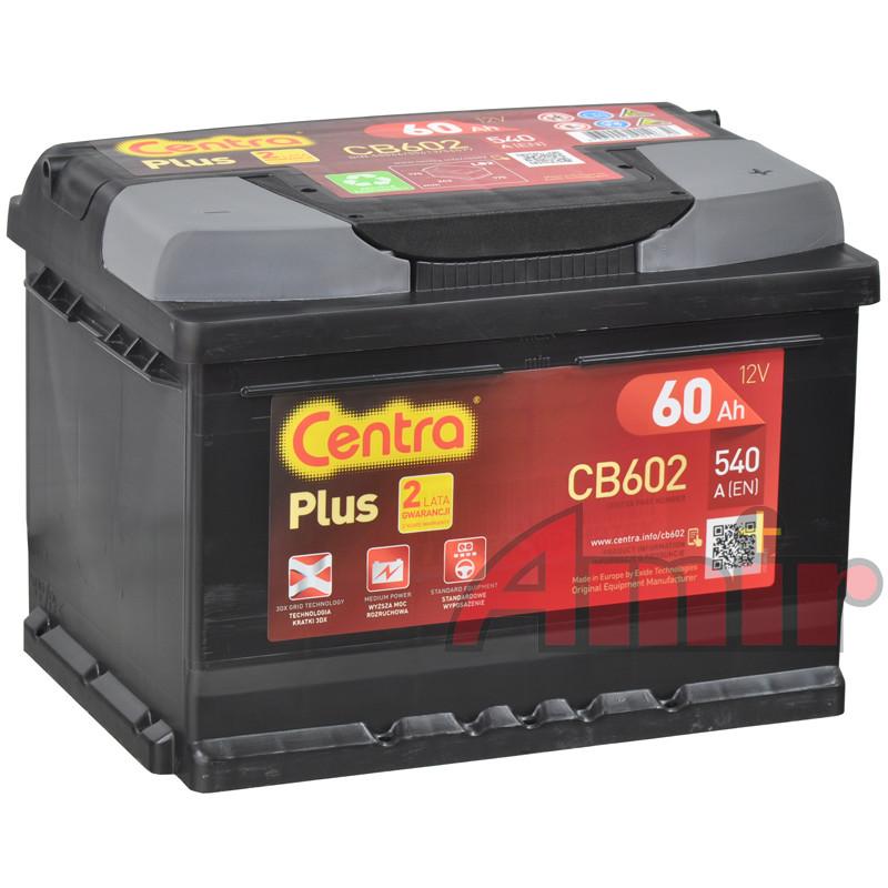 Akumulator Centra Plus - 12V 60Ah 540A CB602