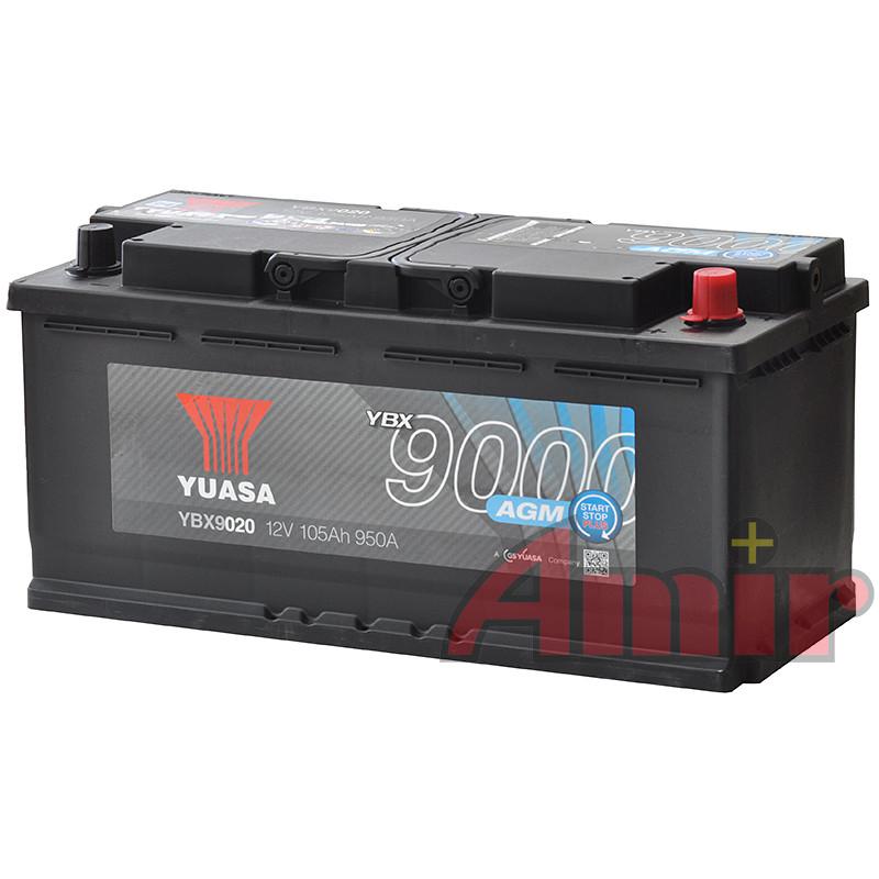 Akumulator Yuasa Start-Stop AGM - 12V 105Ah 950A YBX9020