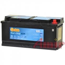 Akumulator Centra Start-Stop AGM - 12V 105Ah 950A CK1050