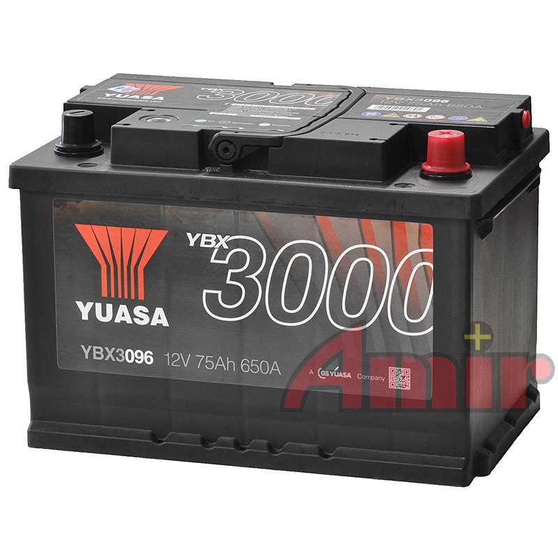Akumulator Yuasa SMF - 12V 75Ah 650A YBX3096