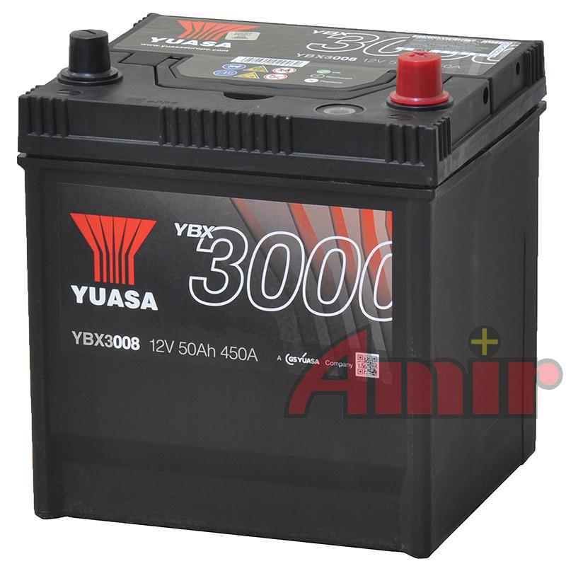 Akumulator Yuasa SMF - 12V 50Ah 450A YBX3008 JAPAN P+